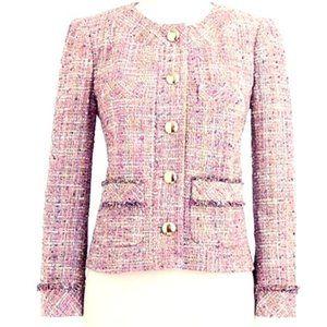 J Crew Confetti Tweed Jacket